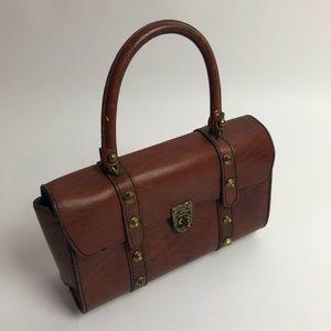 Vintage leather John Romain handbag